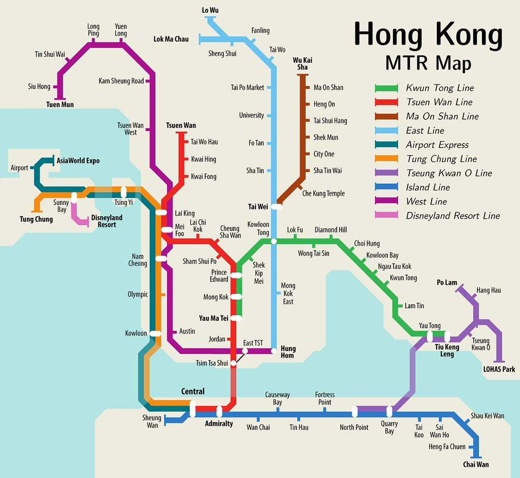 Mtr Hong Kong Map Hong Kong MTR Map | I've adapted the future map into a map o… | Flickr