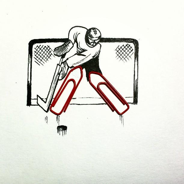 Hokkejnyj Vratar Hockey Goalie Hockey Cartoon Paperc Flickr