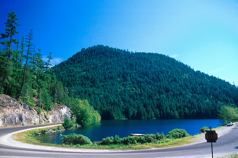 Garden Bay Lake, Garden Bay, Sechelt Peninsula, Sunshine Coast, British Columbia, Canada