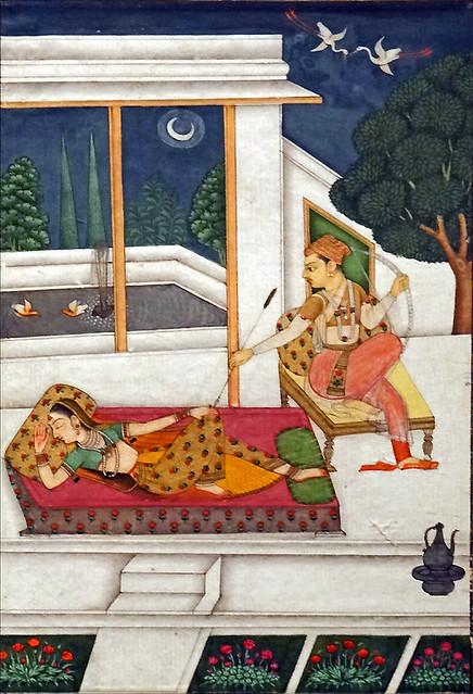 Couple dans un palais à l'aube (musée d'art asiatique de Dahlem, Berlin)
