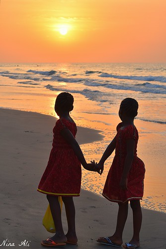 sunset beach gambia westafrica children nikond5500 2016 ninaali
