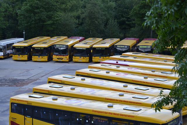 Transdev Keighley & District School Buses 117 YJ56WGC - 110 YK06DNO - 561 W561CWX - 105 YK55AVB - 106 YK55AVC