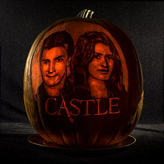 """CASTLE"" Halloween Pumpkin Competition, Lit from Inside."