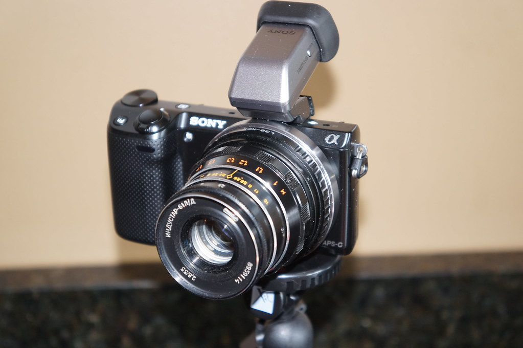 Sony NEX5R with Russian lens   Denny   Flickr