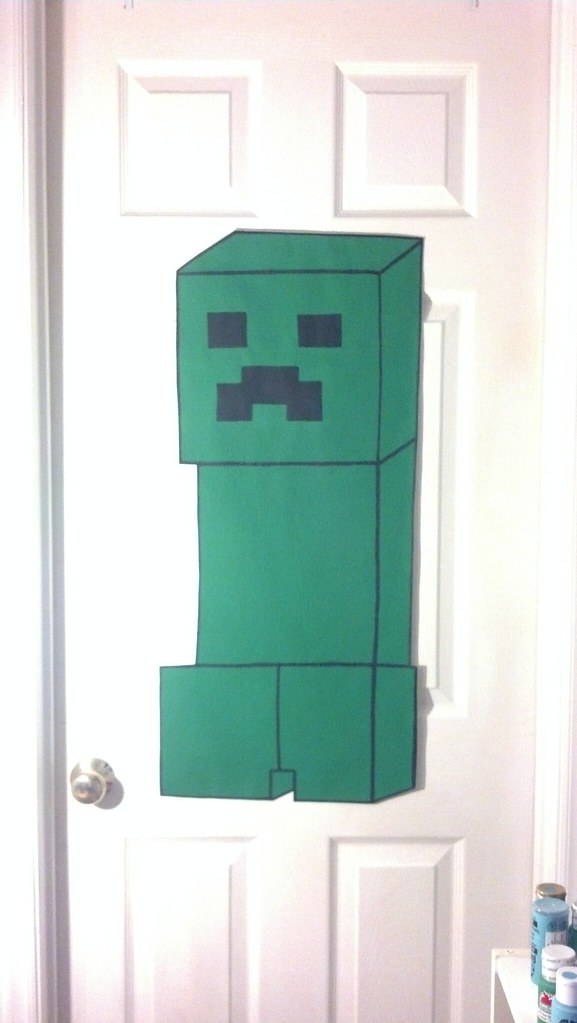 EXTRA LARGE CREEPER Minecraft wallpaper mural hand painted… | Flickr