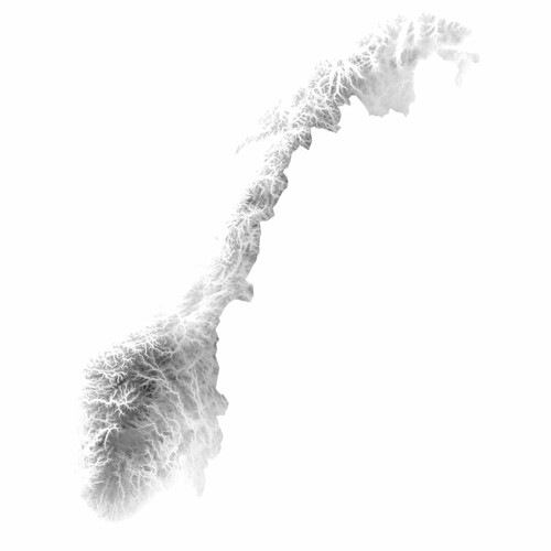 Norway inverted heightmap | by Jon Olav