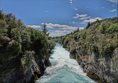 newzealand waikato taupo hukafalls