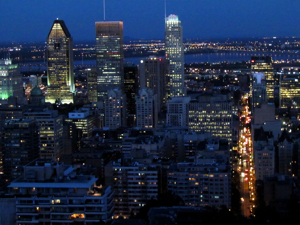 170 Night Skyline Montreal Canada 3291