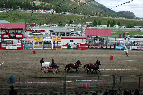 Chuck Wagon Race, Williams Lake Stampede, Williams Lake, Highway 97, Cariboo, British Columbia