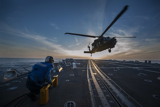 USS Gravely conducts flight operations. | by Official U.S. Navy Imagery