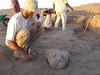 Nález chrliče vpodobě lva, výzkumy Národního muzea vTýfóniu ve Wad Ben Naga, foto: Národní muzeum
