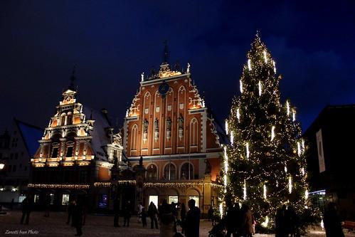 riga latvia lettonia vecriga christmastree view neve natale panorama panoramiche balticsea city winter snow