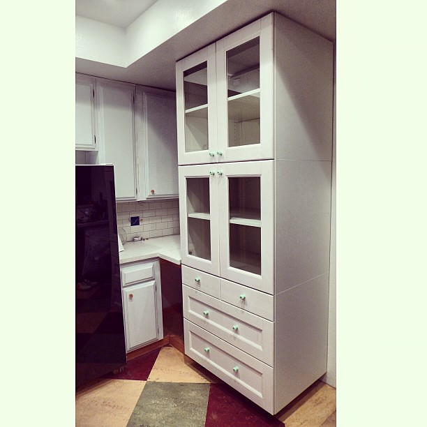 My New China Cabinet Three Ikea Akurum 36 Base Cabinets Flickr
