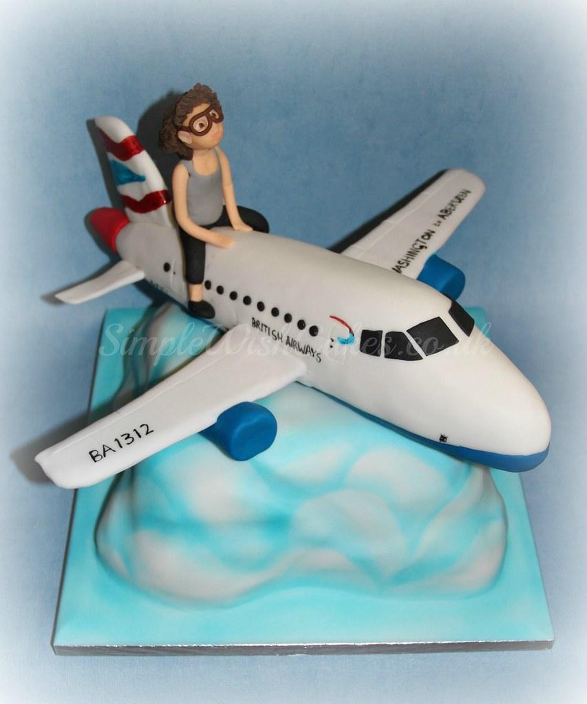 Wondrous Plane Birthday Cake Stef And Carla Green Flickr Funny Birthday Cards Online Inifofree Goldxyz