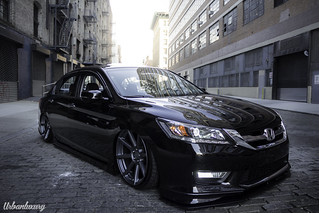 2013 Honda Accord Bagged On Velgen Vmb8 20x105 Matte Gunm