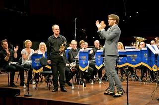 EM 2013 - Windcorp Brass Band. David Glänneskog får publikens jubel. (foto: Olof Forsberg)