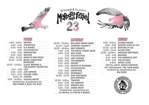 MMF2013 Playing Times-2 | by Aunty Meredith