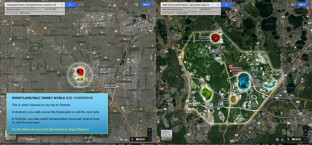 Disneyland-WDW Size Comparison | After my trip to Orlando ...