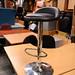 Chrome and leather bar stool