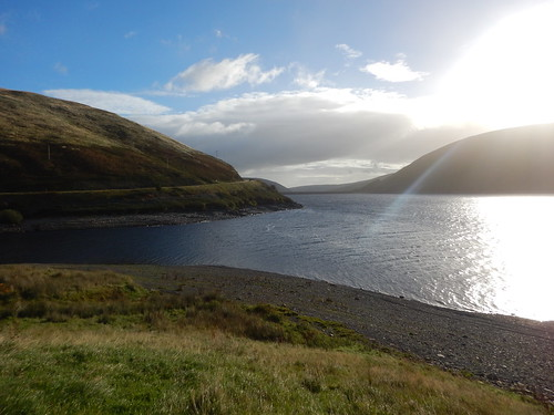 meggetreservoir sunrise scotland