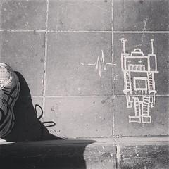 robot on Spuiplein, Den Haag