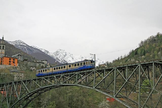 Società Subalpina di Imprese Ferroviarie SSIF 22 ABe 8/8 Intragna 8 april 2008