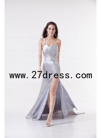 b105149190a 2013 New Silver One SHoulder Sweetheart Floor Length Beading Prom Evening  Dresses from 27dress.com