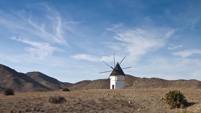 Windmill at Cabo de Gata