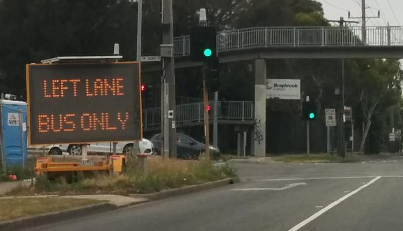 Sunbury line bustitution: bus lanes