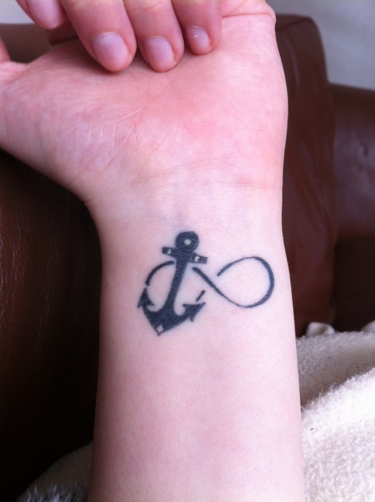 ebe5268e6 ... infinitytattooideas infinity sign with anchor tattoo idea on wrist   by  infinitytattooideas