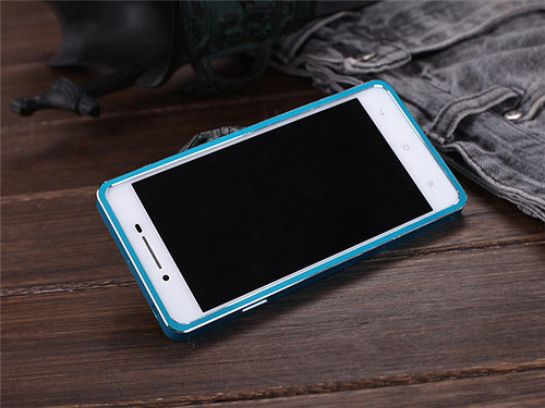 DAYJOY Luxury Aluminum Alloy Metal Bumper Protective Shell Case Cover for OPPO R1