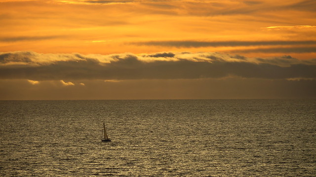 Sailboat on the Pacific