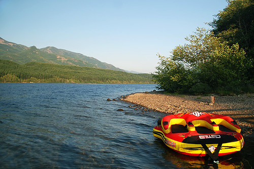 Link River Regional Park on Alice Lake, Port Alice, Vancouver Island, British Columbia, Canada