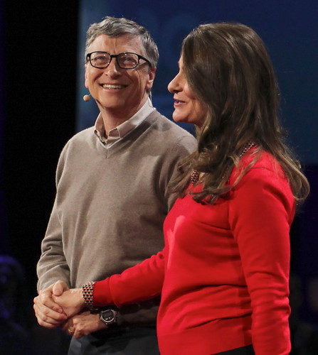 Happy Holding Hands —  Bill & Melinda Gates Give it Away Now | by jurvetson
