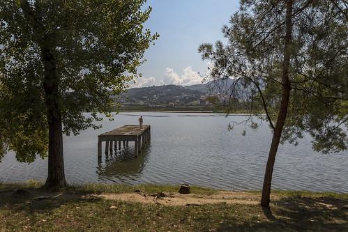 tiranapark park grandparkoftirana grandpark tirana parkuimadhitiranës albania tiranë 2016 people lake artificiallake catch sun al