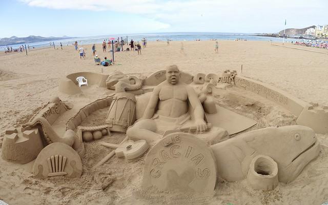 Escultura de arena Playa de las Canteras Las Palmas de Gran Canaria 16