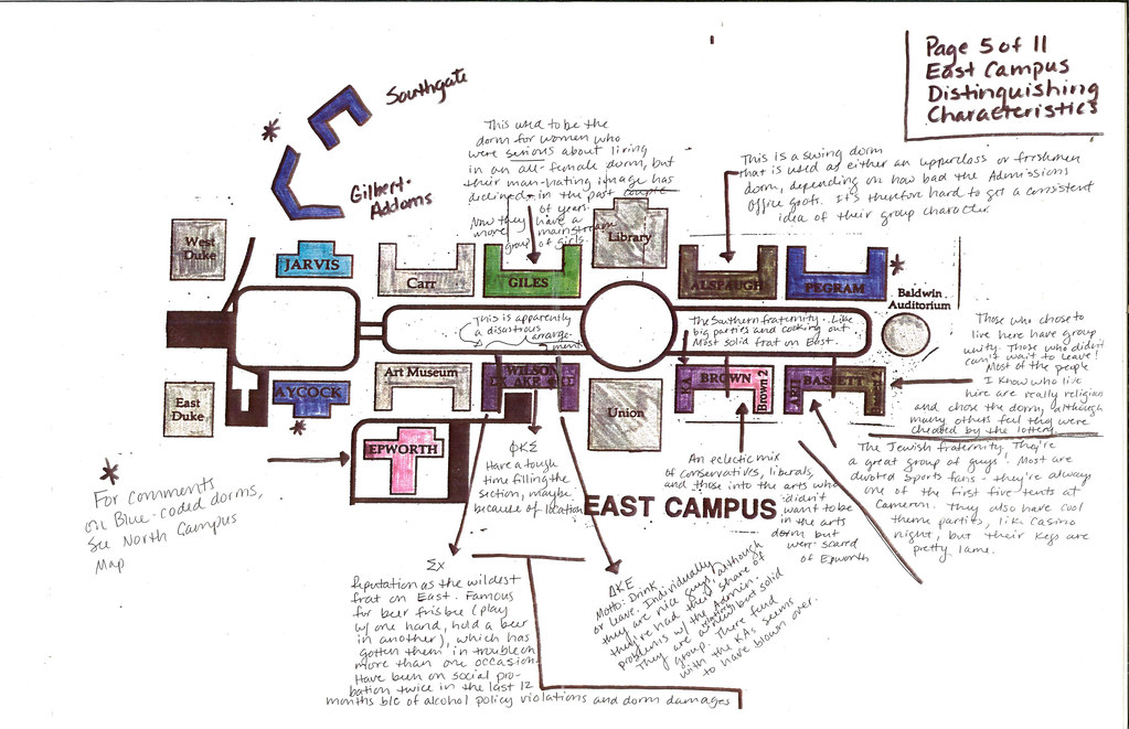 Duke University Campus Map East Campus Map,