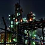 HDR Photo: Factory night view 'The Rainy Night'