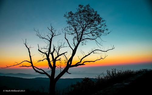 mountains sunrise landscape dawn virginia country shenandoah