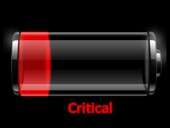 Critical Battery Icon old laptop