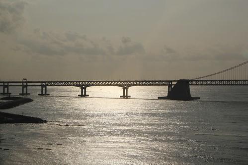 bridge sunrise korea busan rok gwangalli