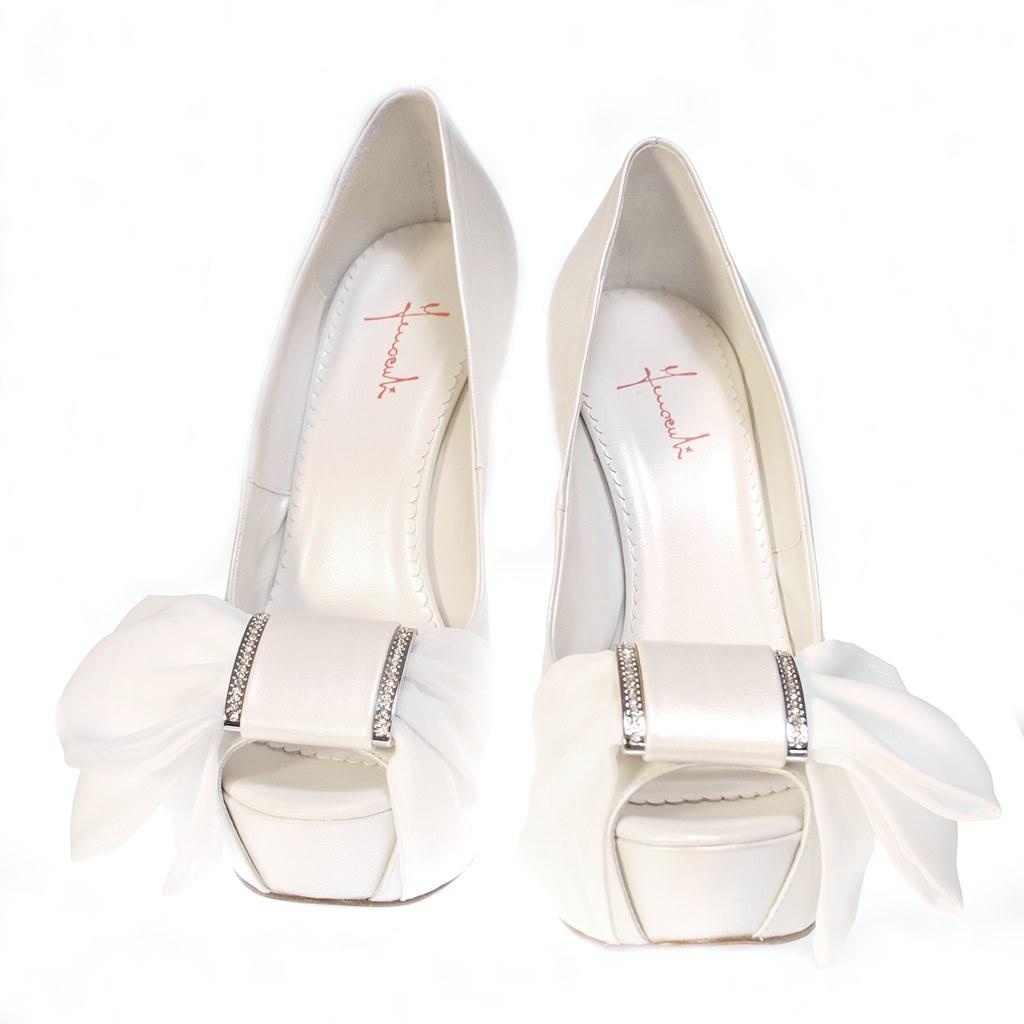 Scarpe Sposa Con Fiocco.Platform Ivory Wedding Shoes With Bow Scarpe Sposa Avori Flickr
