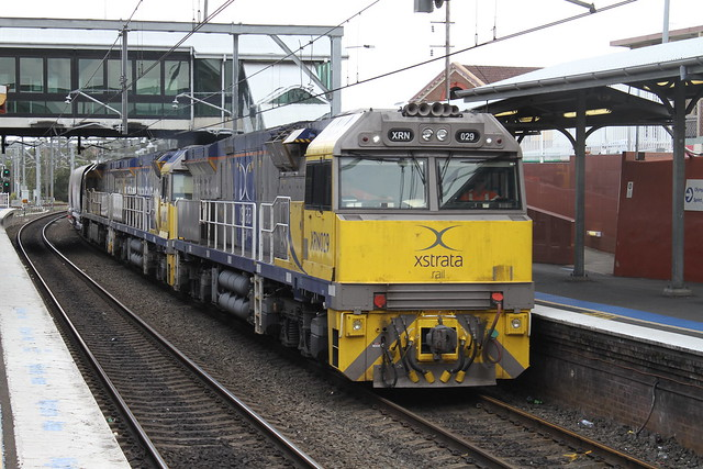 7528 coal hopper transfer movement from baal bone to the hunter valley with XRN,s 029 003 009 pass through lidcombe