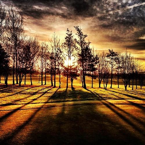 morning sunshine sunrise golf square shadows sunday lofi squareformat iphoneography instagramapp