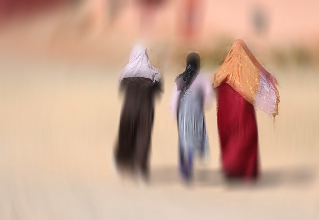Moroccan women walking