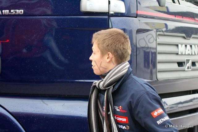 Daniil Kvyat at Formula One Winter Testing 2014