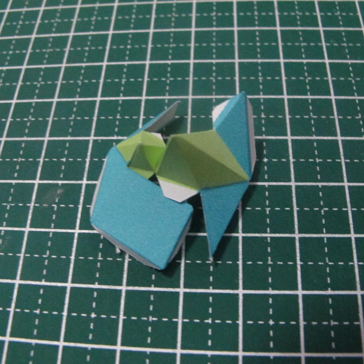 วิธีทำของเล่นโมเดลกระดาษรูปนก (Bird Paper craft ) 010