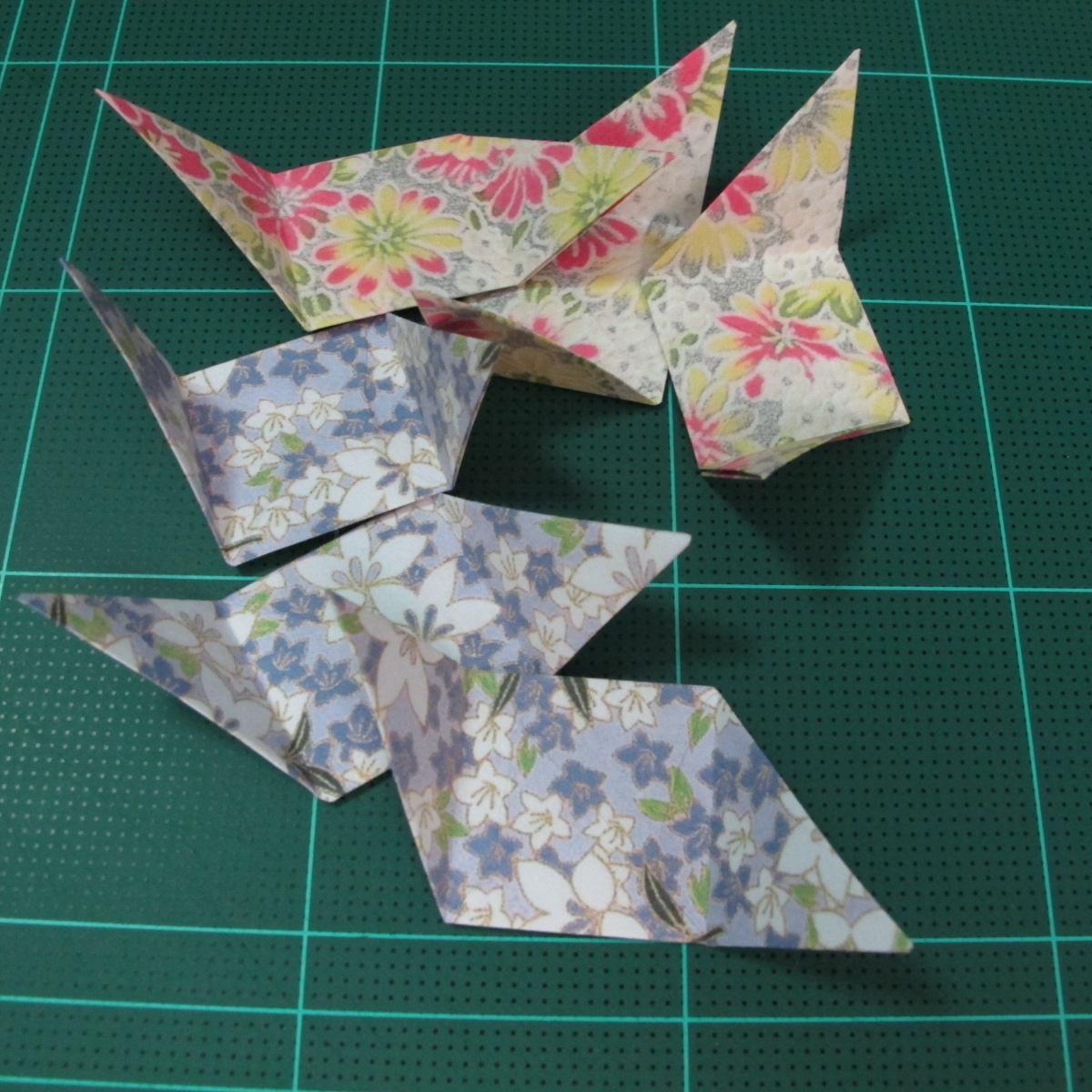 การพับกระดาษเป็นรูปเรขาคณิตทรงลูกบาศก์แบบแยกชิ้นประกอบ (Modular Origami Cube) 018