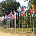 Flags of the World at the Jamboree Entrance