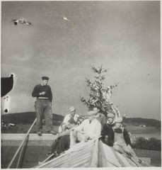 Kranselag på Falstad (ca. 1950) / Topping out at Falstad (ca. 1950)
